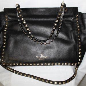 Valentino Garavani Rockstud Leather Medium Tote